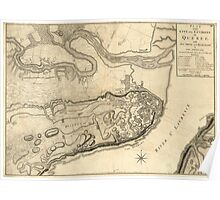 American Revolutionary War Era Maps 1750-1786 769 Plan of the city and environs of Quebec with its siege and blockade by the Americans from the 8th of Poster