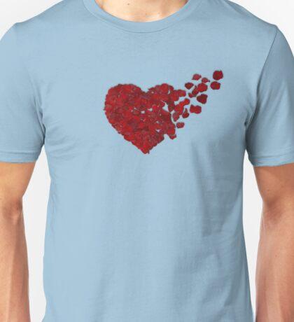 rose heart 3 Unisex T-Shirt