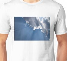 Blue Sky and Sun Rays Unisex T-Shirt