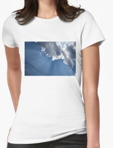 Blue Sky and Sun Rays Womens Fitted T-Shirt