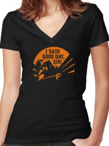 DOTA 2: AXE, I SAID GOOD DAY SIR Women's Fitted V-Neck T-Shirt