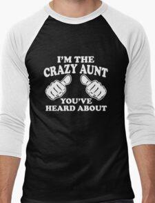 I'm The Crazy Aunt Men's Baseball ¾ T-Shirt