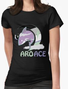 AroAce Pride Sky Shark Womens Fitted T-Shirt