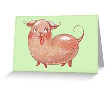 Kidney the Bean Dog Greeting Card