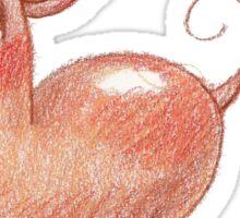 Kidney the Bean Dog Sticker
