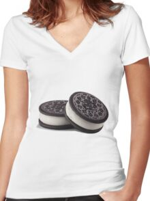 DOUBLE STUFFED Women's Fitted V-Neck T-Shirt