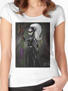 Dark Elf Witch Women's Fitted Scoop T-Shirt