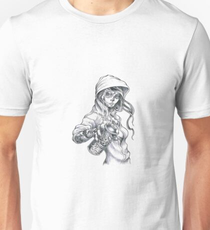 Mardi Gras Graffiti Girl Unisex T-Shirt