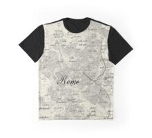 Rome Vintage Hand-drawn Map Graphic T-Shirt
