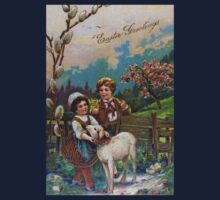 Easter Greetings 1908 Kids Tee