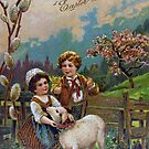 Easter Greetings 1908 by Susan S. Kline
