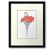 Umbrella full of flowers Framed Print