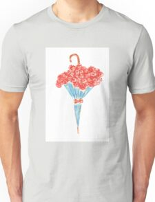 Umbrella full of flowers Unisex T-Shirt