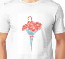 Umbrella full of flowers Unisex T-Shirt