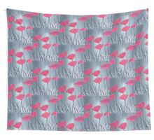 Pink flowers acrylic painting Wall Tapestry