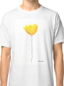 Yellow tulip watercolour Classic T-Shirt