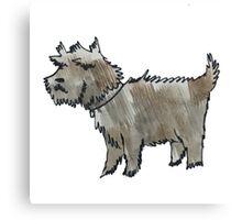 Muddy Dog Canvas Print