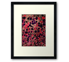 Cool, unique modern floral flower pattern digital art design Framed Print