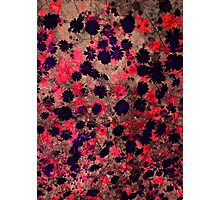 Cool, unique modern floral flower pattern digital art design Photographic Print