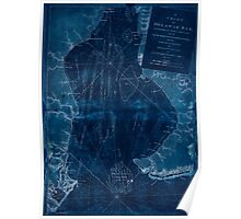 American Revolutionary War Era Maps 1750-1786 004 A chart of Delawar Bay with soundings and nautical observations Inverted Poster