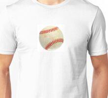Baseball ball over white Unisex T-Shirt