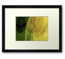 Cool, unique modern green black abstract painting art design Framed Print
