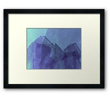 Cool, unique modern blue abstract painting art design Framed Print