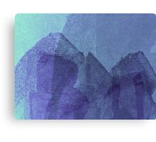 Cool, unique modern blue abstract painting art design Canvas Print
