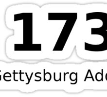 PA 17325 (The Gettysburg Address) Sticker