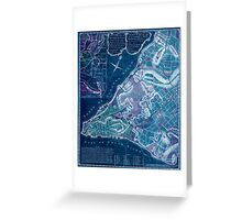 American Revolutionary War Era Maps 1750-1786 224 A plan of the city of New York & its environs to Greenwich on the North or Hudsons River and to Crown Point Inverted Greeting Card