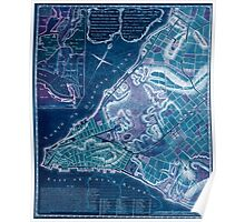American Revolutionary War Era Maps 1750-1786 224 A plan of the city of New York & its environs to Greenwich on the North or Hudsons River and to Crown Point Inverted Poster