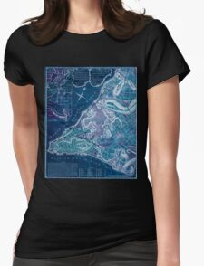 American Revolutionary War Era Maps 1750-1786 224 A plan of the city of New York & its environs to Greenwich on the North or Hudsons River and to Crown Point Inverted Womens Fitted T-Shirt