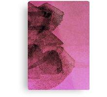 Cool, unique modern pink black abstract painting art design Metal Print
