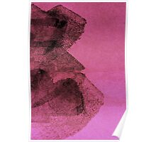Cool, unique modern pink black abstract painting art design Poster
