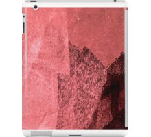 Cool, unique modern pink black abstract painting art design iPad Case/Skin