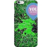 You are here, Boston old map iPhone Case/Skin