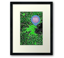 You are here, Boston old map Framed Print