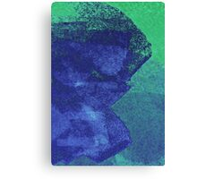 Cool, unique modern green blue abstract painting art design Canvas Print