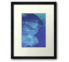 Cool, unique modern abstract blue ocean painting art design Framed Print