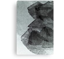 Cool, unique modern grey black abstract painting art design Canvas Print