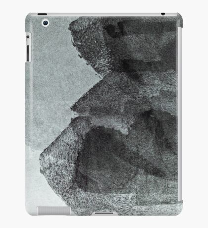 Cool, unique modern grey black abstract painting art design iPad Case/Skin