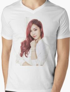 Red Hair Jessica Mens V-Neck T-Shirt