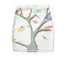Birds scare dark night creepy moonlight  Mini Skirt