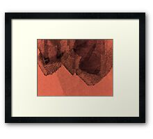Cool, unique modern red black abstract painting art design Framed Print