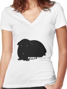 Furry Potato Women's Fitted V-Neck T-Shirt
