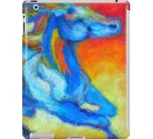 Sunset horse running outback  iPad Case/Skin