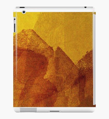 Cool, unique modern orange yellow abstract painting art design iPad Case/Skin