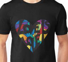 Love is Love rainbow heart Unisex T-Shirt
