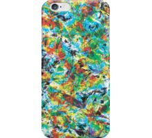 Vibrance cool, trendy modern abstract painting art design iPhone Case/Skin