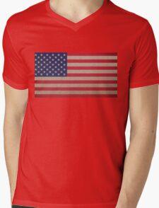 American flag Mens V-Neck T-Shirt